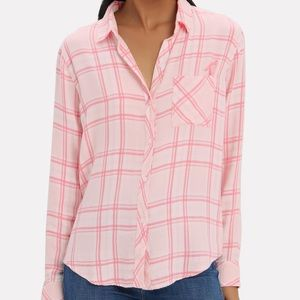 Rails Breast Cancer Awareness Flanel Top